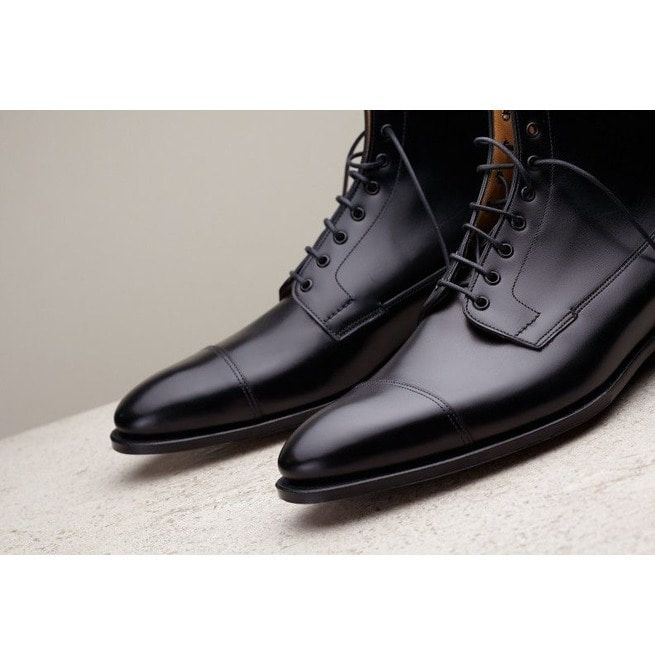 Handmade Men Black Leather Boots, Dress