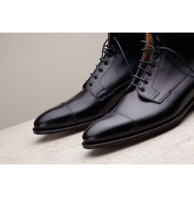 Handmade Men Black Leather Boots Dress Boots For Men Rebelsmarket