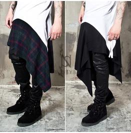 Asymmetric Grunge Wrap Skirts 126