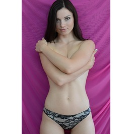 The Lacey Jersey Heart Panties Handmade To Order