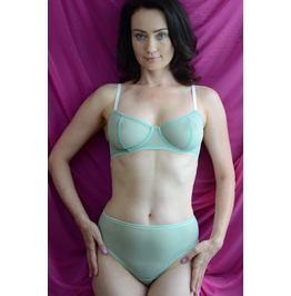 The Sheer Cup Underwire Tulle Bra Handmade To Order
