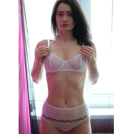 The Sheer Cup Underwire Tulle White Bra Handmade To Order