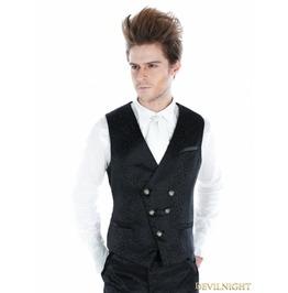 Black Gothic Palace Style Vest For Men Y010035 1