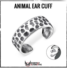 Animal Ear Cuff, 925 Sterling Silver Animal Print Inspired Spot Design