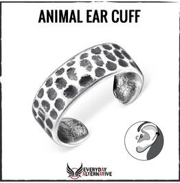 Animal Ear Cuff, 925 Sterling Silver Animal Print Inspired Spot Design