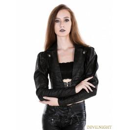 Black Gothic Midriff Top For Women M080050n 1