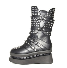 Hades Shoes Spektor Multi Studded Unisex Flats With Spikes Embedded In Pl
