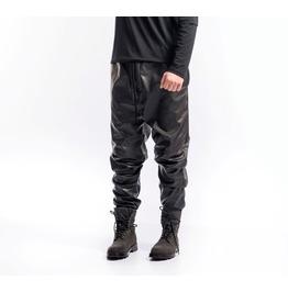 Leather Drop Crotch Pants
