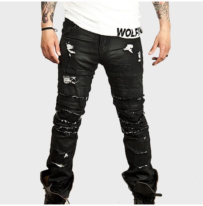rebelsmarket_distressed_vintage_coated_black_slim_biker_jeans_157_jeans_2.jpg