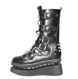 Hades Shoes Stetchen Platform Boot With Seven Buckle Straps