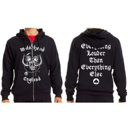 Motorhead Hooded Sweatshirt Official England Louder Zip Logo Hoodie