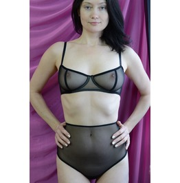 The Sheer Cup Underwire Mesh Bra Handmade To Order