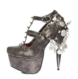 Hades Shoes Trinity Rhino Heel Collection W/ Spikes On Side