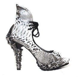 Hades Shoes Vamp Synthetic Snake Skin With Prehistoric Claw Heel