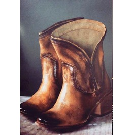 Untitled Vintage Antique Heir Maple Leather Ankle Boots