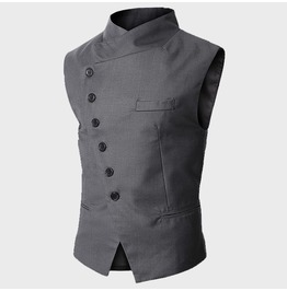 Vest Men Male Slim Vest New Men Black // Grey