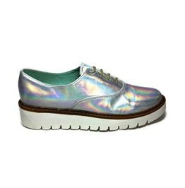 Perla armenta hologram oxford shoe loafers and slip ons