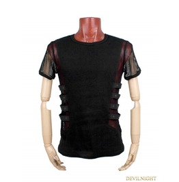 Black Gothic Punk Personality T Shirt For Men T 313