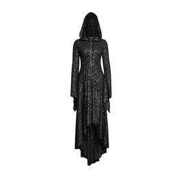 Gothic Mediaval Vampire Witch Cosplay Black Hooded Dress