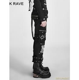 Black Gothic Boot Cut Women's Punk Trousers K 058