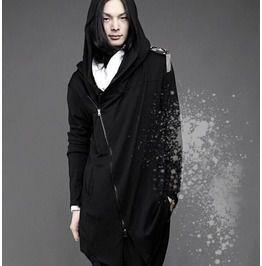Fashion Mens Long Sleeved Zip Up Hoodies