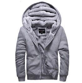 Streetwear Rib Cuff Thick Fur Lined Zipper Hoodie