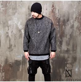 Side Incision Herringbone Knit Shirts 154