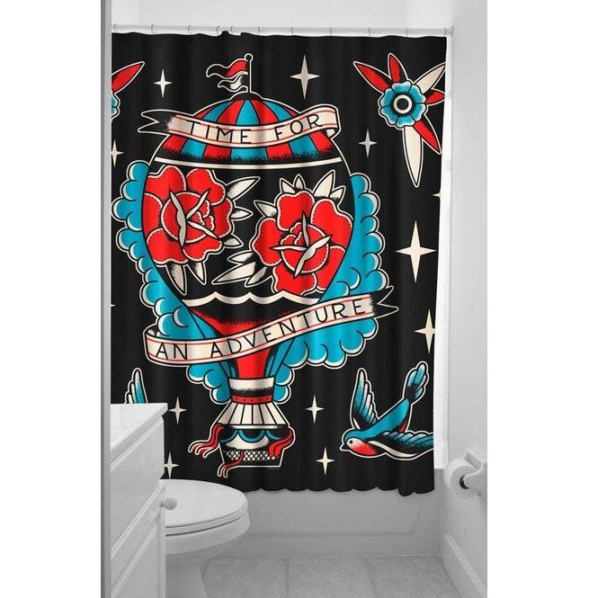 Sourpuss Adventure Shower Curtain Soupcl107