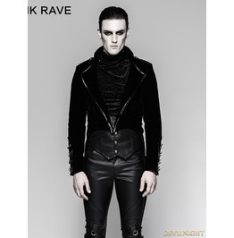 Black Gothic Military Uniform Gorgeous Swallow Tail Jacket For Men Y 737