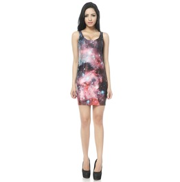 2013 Arrival Red Space Galaxy Dress Tank Tops