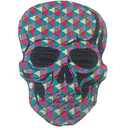 Skull Mosaic Large Patch Iron On Sew On Applique Motorcycle Bike Patches