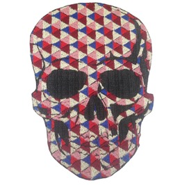 Skull Large Patch Iron On Sew On Applique Motorcycle Bike Patches