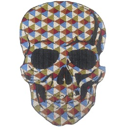 Skull Large Skulls Patch Iron On Sew On Applique Motorcycle Bike Patches