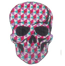 Skulls Patch Iron On Sew On Applique Motorcycle Bike Patches