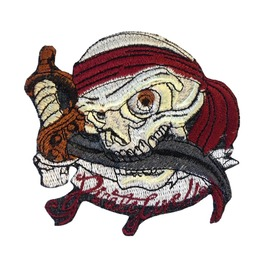 Applique Pirate Patch Skull Iron On Patches Sew Applique Biker Motorcycle