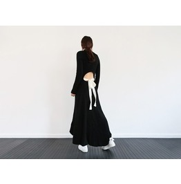Designer Style Super Sexy Knit Long Sleeve Full Length Dress