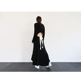 Designer Style Super Sexy Knit Long Sleeve Full Length Dress