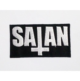 Embroidered Satan For Rocker Iron On Patch.