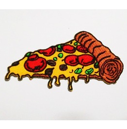 Embroidered Pizza Sew On Or Iron On Patch. High Quality.