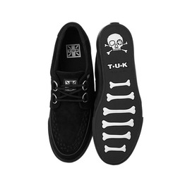 Tuk Black Suede Creeper Sneaker Rockabilly Retro 50s Shoe