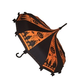 Halloween Umbrella Pagoda Shaped With Lace/Bows By Hilary's Vanity