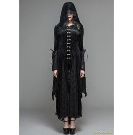 Black Velvet Gothic Vampire Style Hooded Dress Jacket Ct044