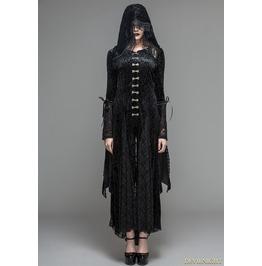 Black Velvet Gothic Vampire Style Hooded Dress Jacket Ct044
