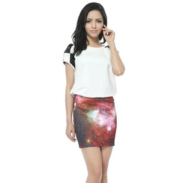 Arrival Pattern Print Galaxy Skirts