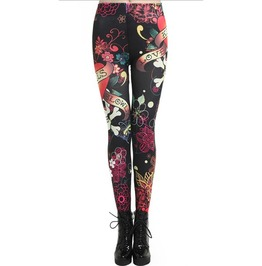 American Traditional Tattoo Style Leggings