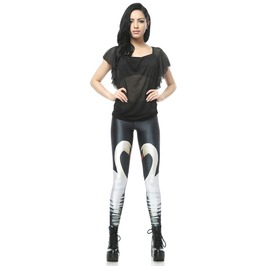 Animal Pattern Black Leggings Pants