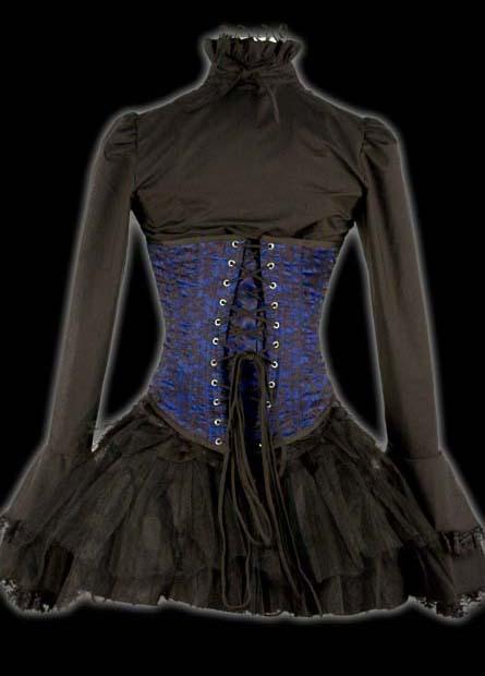 rebelsmarket_black_brocade_cravate_blouse_victorian_vampire_button_up_shirt_9_to_ship_standard_tops_2.jpg