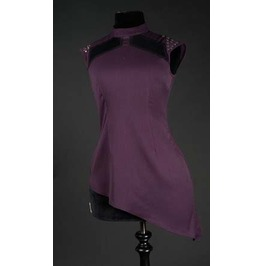 Purple Asymmetrical Space Girl Spiked Shirt Studded Top $5 To Ship Anywhere