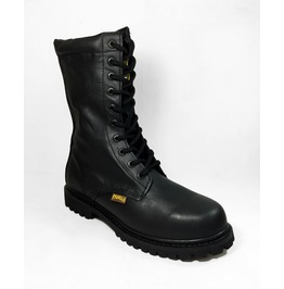 Black Military Boots Unisex Biker 413 Style
