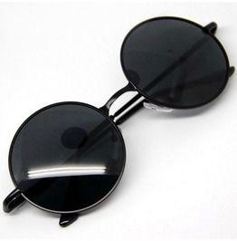 Steampunk Vintage Retro Metal Frame Round Colored Lens Sunglasses